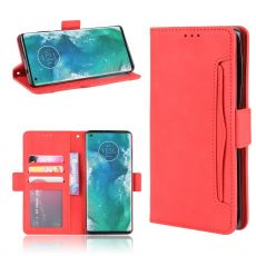 LN 5card Flip Wallet Motorola Edge+ Red