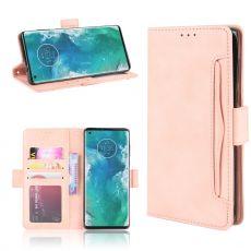 LN 5card Flip Wallet Motorola Edge+ Pink