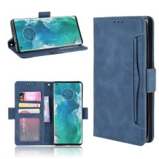 LN 5card Flip Wallet Motorola Edge+ Blue