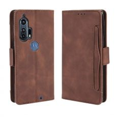 LN 5card Flip Wallet Motorola Edge+ Brown