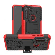 LN suojakuori tuella Moto G8 Power Red