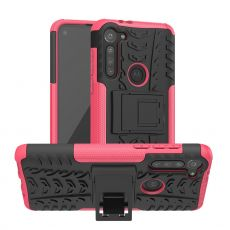 LN suojakuori tuella Moto G8 Power Rose