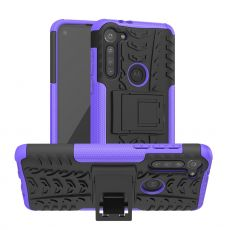 LN suojakuori tuella Moto G8 Power Purple