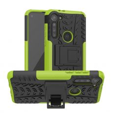 LN suojakuori tuella Moto G8 Power Green