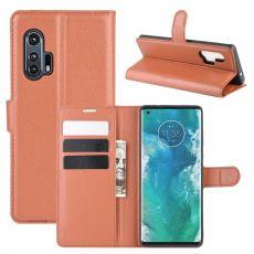 LN Flip Wallet Motorola Edge+ Brown