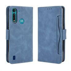 LN 5card Flip Wallet Moto G8 Power Lite Blue