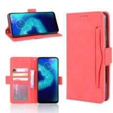 LN 5card Flip Wallet Moto G8 Power Lite Red