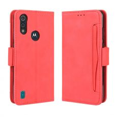 LN 5card Flip Wallet Moto E6s Red