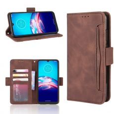 LN 5card Flip Wallet Moto E6s Brown