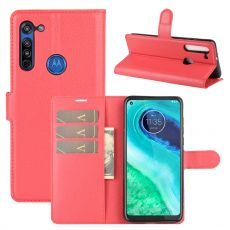 LN Flip Wallet Moto G8 Red