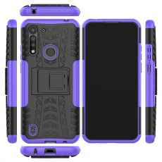 LN kuori tuella Moto G8 Power Lite Purple