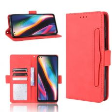 LN 5card Flip Wallet Moto G 5G Plus red