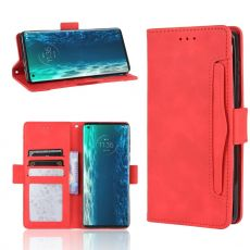 LN 5card Flip Wallet Motorola Edge red