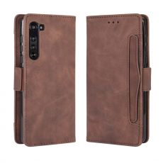 LN 5card Flip Wallet Motorola Edge brown