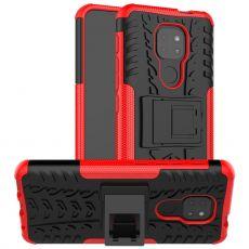 LN kuori tuella Moto G9 Play red