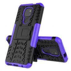 LN kuori tuella Moto G9 Play purple