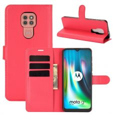 LN Flip Wallet Moto G9 Play Red