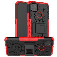 LN kuori tuella Moto G9 Power Red