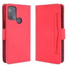 LN 5card Flip Wallet Motorola Moto G50 red