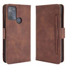 LN 5card Flip Wallet Motorola Moto G50 brown