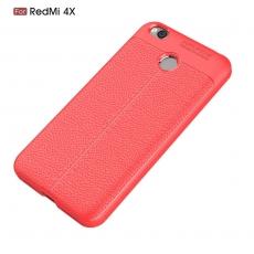 Luurinetti Redmi 4X TPU-suoja nahka red