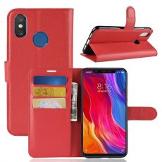 Luurinetti Flip Wallet Xiaomi Mi 8 red