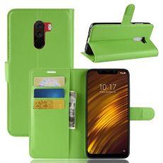 Luurinetti Flip Wallet Pocophone F1 green