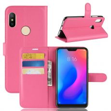 Luurinetti Flip Wallet Redmi Note 6 Pro rose