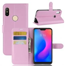 Luurinetti Flip Wallet Redmi Note 6 Pro pink