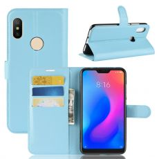 Luurinetti Flip Wallet Redmi Note 6 Pro blue