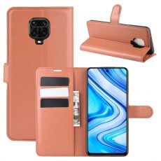 LN Flip Wallet Xiaomi Redmi Note 9 Pro Brown
