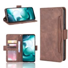 LN 5card Flip Wallet Xiaomi Mi 10 Lite 5G Brown