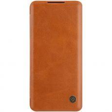 Nillkin Qin Flip Cover Mi Note 10 Lite Brown