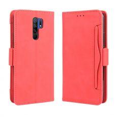 LN 5card Flip Wallet Xiaomi Redmi 9 Red