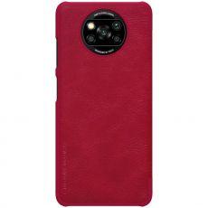 Nillkin Qin flip cover Poco X3 NFC red
