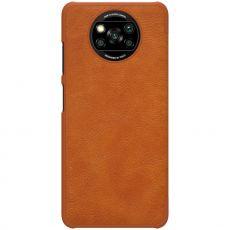 Nillkin Qin flip cover Poco X3 NFC brown