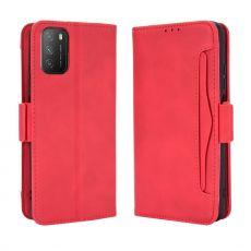 LN 5card Flip Wallet Poco M3 Red