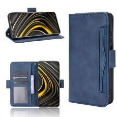 LN 5card Flip Wallet Poco M3 Blue