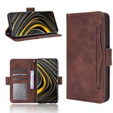 LN 5card Flip Wallet Poco M3 Brown