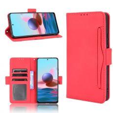 LN 5card Flip Wallet Redmi Note 10 Pro red