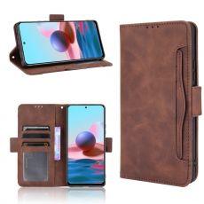 LN 5card Flip Wallet Redmi Note 10 Pro brown