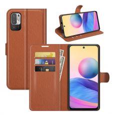 LN Flip Wallet Redmi Note 10 5G brown