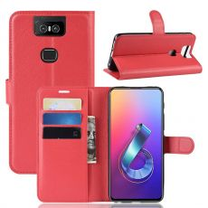 Luurinetti Zenfone 6 ZS630KL Flip Wallet Red
