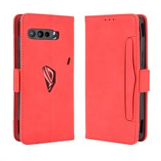 LN 5card flip wallet ROG Phone 3 red
