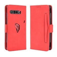 LN 5card flip wallet ROG Phone 3 red