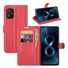 LN Flip Wallet ZenFone 8 red