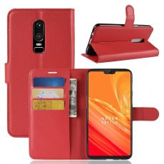 Luurinetti Flip Wallet OnePlus 6 red