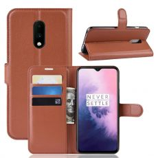 Luurinetti Flip Wallet OnePlus 7 Brown
