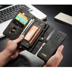 CaseMe 2in1 lompakko 11 card OnePlus 7 Black