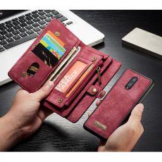 CaseMe 2in1 lompakko 11 card OnePlus 7 Red